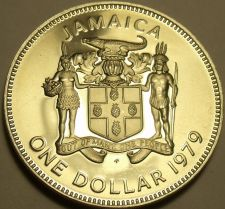 Buy Rare Cameo Proof Jamaica 1979 Dollar~Only 4,049 Ever Minted~Prime Minister~Fr/Sh