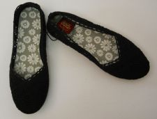 Buy SIZE 9 Womens Ballet Flats Shoes FADED GLORY Black Fabric Upper Flexible Outsole