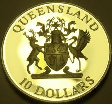 Buy Rare Silver Proof Australia Queensland 1989 $10.00~Only 48,573 Minted~Free Ship