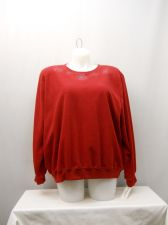 Buy PLUS SIZE 3X Women's Fleece Sweatshirt ALFRED DUNNER Red Long Sleeves Crew Neck