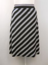 Buy PLUS SIZE 4X Womens A Line Skirt FADED GLORY Striped Calf Elastic Waist Pull On