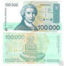 Buy CROATIA 100,000 DINAR AWESOME NOTE GEM UNC~~FREE SHIP~~