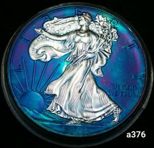 Buy 2016 Rainbow Monster Toned Silver American Eagle Coin 1oz uncirculated #a376