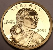 Buy United States 2005-S Sacagawea Cameo Proof Dollar~Free Shipping