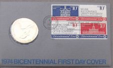Buy 1974 BICENTENNIAL FIRST DAY COVER MEDALLION~REVOLUTION~JOHN ADAMS~FREE SHIPPING~