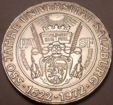 Buy Unc Silver Austria 1972 50 Schilling~350th Anniversary Of Salzburg University~FS