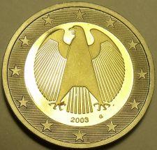 Buy Cameo Proof Germany 2003-G 2 Euros~Karlsruhe Mint~Eagle~Bi-Metal~Free Shipping~