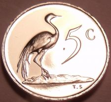 Buy Rare Proof South Africa 1969 5 Cents~Only 12,000 Ever Minted~Blue Crane~Free Shi