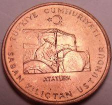 Buy Gem Unc Turkey 1971 F.A.O. Issue 10 Kurus~Atatürk Driving a tractor~Free Ship