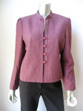 Buy Joseph Feldman Brick Lined Long Sleeves Stretch 4-Button Blazer Jacket 16 New PR