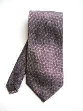Buy A0475 Donna Karan NEW Italian Silk Diamond Pattern Wide Neck Tie Made In USA PR