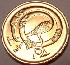 Buy Gem Unc Ireland 1971 Half Penny~1st Year Ever Minted~Neck Twisted Bird~Free Ship