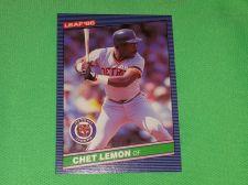 Buy VINTAGE Chet Lemon Tigers Superstar 1986 Leaf Baseball GD-VG