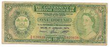 Buy Scarce British Honduras Belize 1973 Dollar~Pick 28C~Free Shipping
