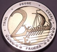 Buy Rare Sweden 2003 Bi-Metal 2 Euros~Essai Trial Preuba Pattern Proof~17K Minted~FS