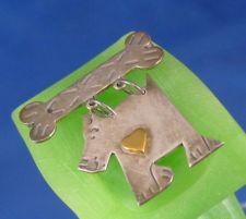 Buy Brooch Mixed Metals Sterling & Brass Steampunk Dog & Bone Mexico MW Samara