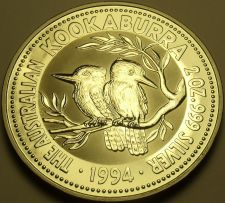 Buy Gem Unc Silver Australia 1994 2 Dollars~Kookaburra~Free Shipping