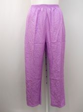 Buy PLUS SIZE 22WP Womens Casual Crinkle Pants SARA MORGAN Solid Purple Inseam 28