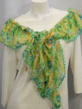 "Buy 18 Collectioneighteen Stretch Green Floral Stole Shawl Wrap Scarf 60""X 13"""