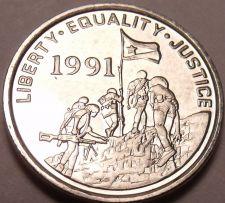 Buy Gem Unc Eritrea 1997 1 Cent~Military Flag~Gazelle~See Our Gem Unc Coins~Free Shi
