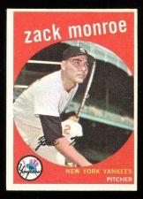 Buy 1959 TOPPS ZACK MONROE, #108, EX-MT (59T0070)