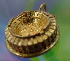 Buy CHARM: KINNEY GOLD VERMEIL OVER STERLING TRAVEL SOUVENIR : ATLANTA STADIUM