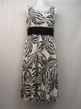 Buy PLUS SIZE 16W Womens Dress R M RICHARDS Tropical Sleeveless Ruched Elastic Waist