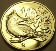 Buy Rare Unc British Virgin Islands 1975-U 10 Cents~Kingfisher~Only 2,351 Minted~F/S