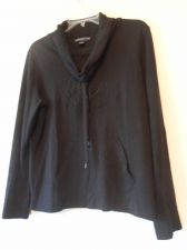 Buy Womens American Living Turtle Neck Pull Over Long Sleeve Size L Blck 100% Cotton