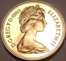 Buy Proof Great Britain 1980 Penny~Crowned Portocullis~143,000 Minted~Free Shipping
