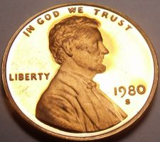 Buy United States Proof 1980-S Lincoln Cent~See All Our Lincoln Proofs~Free Shipping