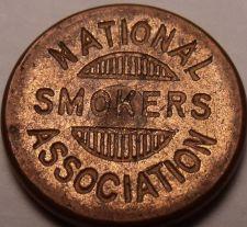 Buy National Smokers Association Membership #1754 Medal~Free Shipping