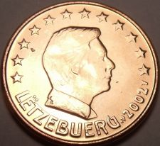 Buy Gem Unc 2002 Luxembourg 5 Euro Cents~See All Our Gem Unc Coins~Free Shipping