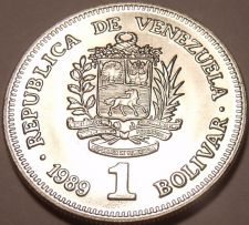 Buy Gem Uncirculated Venezuela 1990 1 Bolivar~Cornucopias~Free Shipping