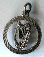 Buy vintage HARP in a CIRCLE CHARM signed SILVER GJ LTD