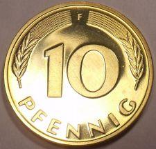 Buy Gem Cameo Proof Germany 1975-F 5 Pfennig~Minted In Stuttgart~43k Minted~Free Shi