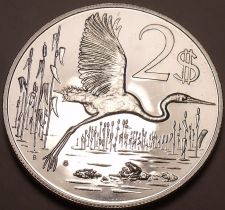 Buy Rare Silver Proof Cayman Islands 1972 Two Dollars~Only 11,000 Minted~Free Ship