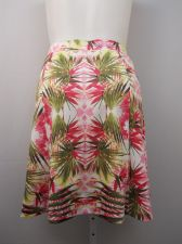 Buy INC Skirt Plus Size 2X Tropical Bloom Above Knee Elastic Waist Stretch Knit