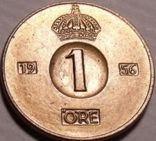 Buy Gem Unc Sweden 1956 Ore~Mint Error Die Crack Over The 9~All Coins~Free Shipping
