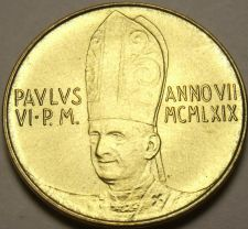 Buy Rare Vatican 1969 F.A.O. 20 Lire~100,000 Minted~Angel In Flight~Free Shipping