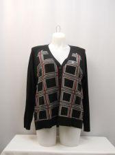Buy North Crest Women's Boyfriend Cardigan Plus Size 2X Black Plaid Long Sleeves
