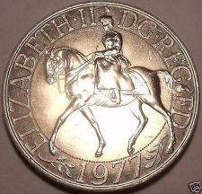 Buy Gem Unc Great Britain 1977 25 Pence~Jubilee Of Reign Commemorative~Free Shipping