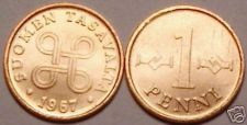 Buy UNCIRCULATED FINLAND 1967 1 PENNI<FOUR JOINED LOOPS>
