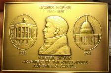 Buy Huge 100 Gram Solid Bronze James Hoban Freemason Architect Of The White House~FS