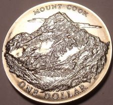 Buy MASSIVE GEM UNC NEW ZEALAND 1970 DOLLAR~MOUNT COOK~FREE SHIPPING~ROYAL VISIT~
