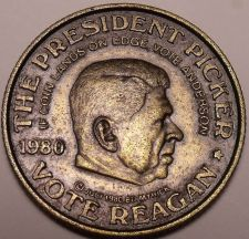 Buy THE PRESIDENT PICKER~3 SIDED COIN~REAGAN~CARTER~SCARCE~