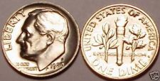 Buy 1980-P BRILLIANT UNC ROOSEVELT DIME~FREE SHIP INCLUDED~