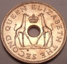 Buy Unc Rhodesia 1958 Half Penny~Giraffes With Crown~Free Shipping