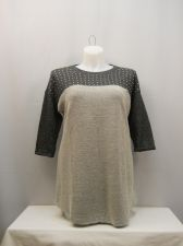 Buy Style & Co Studded 3/4 Sleeves Scoop Neck Textured Knit Tunic Top Size 0X