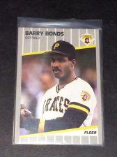 Buy MLB BARRY BONDS PIRATES 1989 FLEER #202 GD-VG
